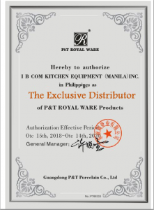 P&T Exclusivity Certificate